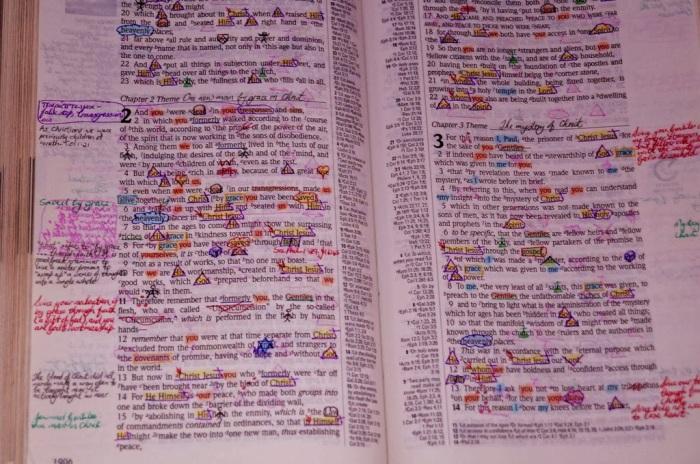 hristiyanın çalıştığı incil sayfası